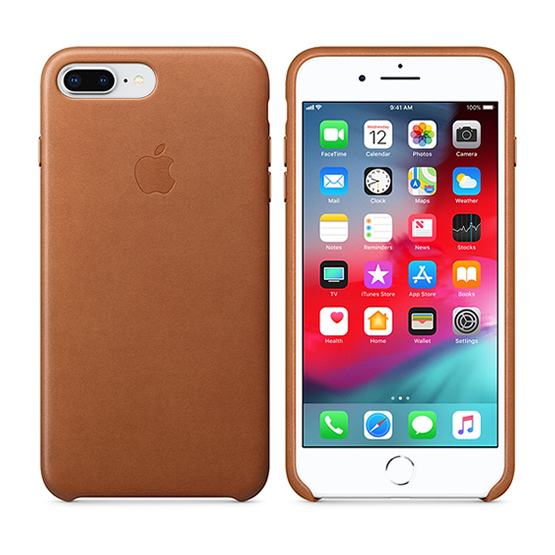 Apple Leather Case iPhone 8/7 Plus - Saddle Brown
