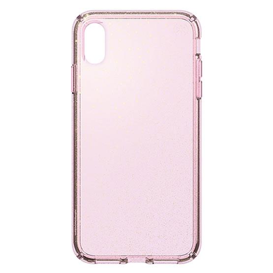 Speck Presidio Clear Glitter iPhone XS Max - Bella Pink