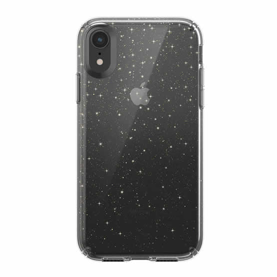 Speck Presidio Clear Glitter iPhone XR - Clear