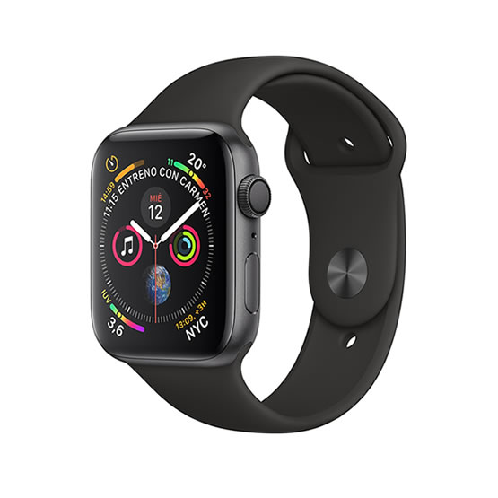 Apple Watch Series 4 - 44mm - Space Gray/Black Sport Band