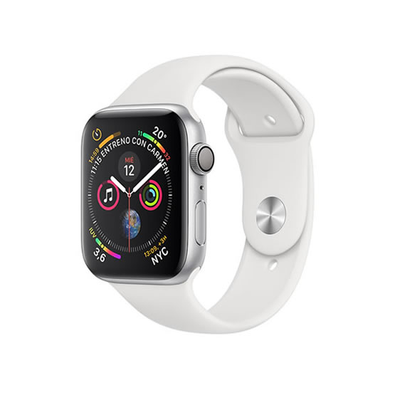 Apple Watch Series 4 - 40mm - Silver/White Sport Band
