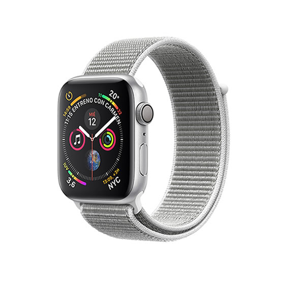 Apple Watch Series 4 - 40mm - Silver/Seashell Loop