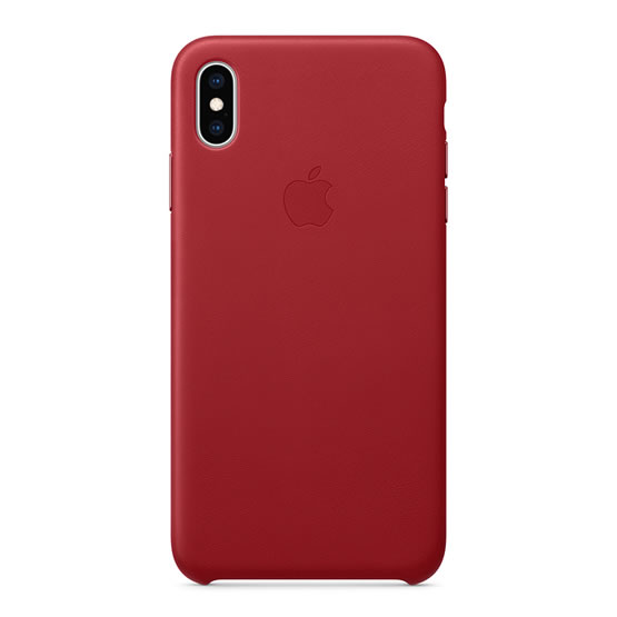 Apple Leather Case iPhone XS Max - Red