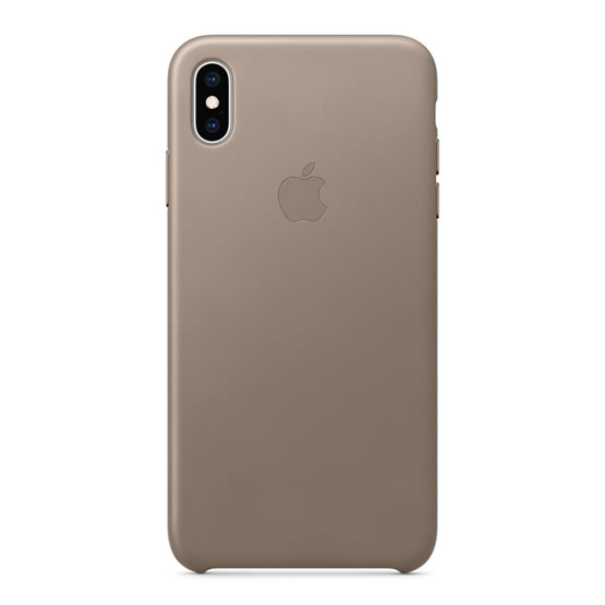 Apple Leather Case iPhone XS Max - Taupe