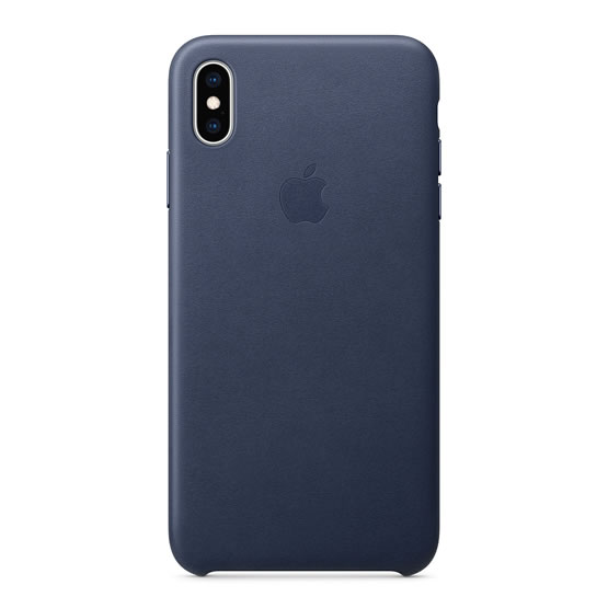 Apple Leather Case iPhone XS Max - Midnight Blue