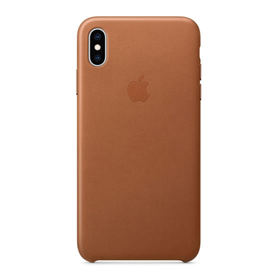 Apple Leather Case iPhone XS Max - Saddle Brown