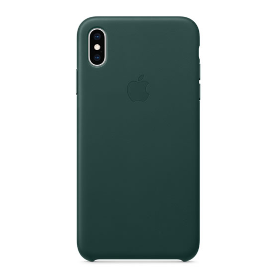Apple Leather Case iPhone XS Max - Forest Green