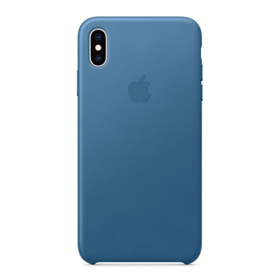Apple Leather Case iPhone XS Max - Cape Cod Blue