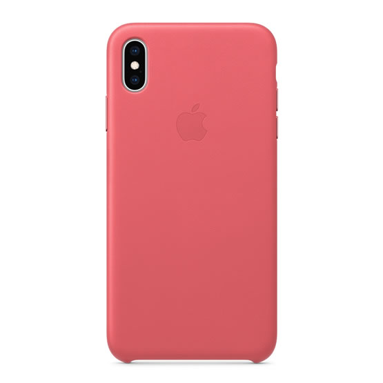 Apple Leather Case iPhone XS Max - Peony Pink