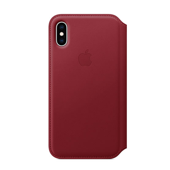 Apple Leather Folio iPhone XS - Red