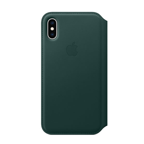 Apple Leather Folio iPhone XS - Forest Green