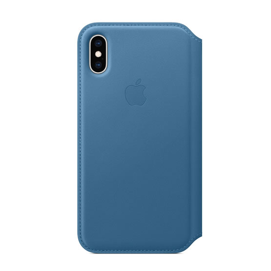 Apple Leather Folio iPhone XS - Cape Cod Blue