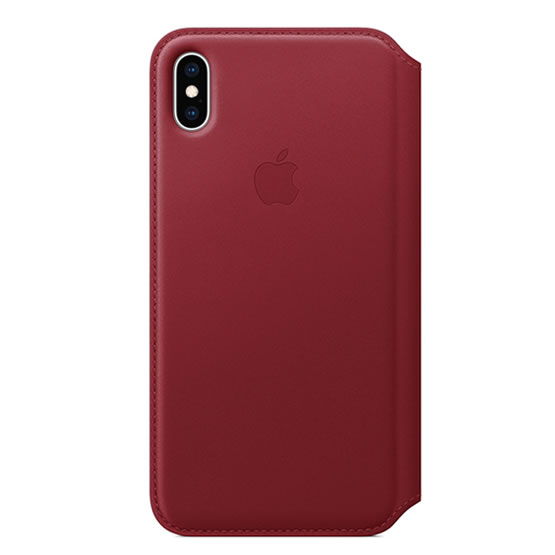Apple Leather Folio iPhone XS Max - Red