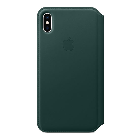 Apple Leather Folio iPhone XS Max - Forest Green