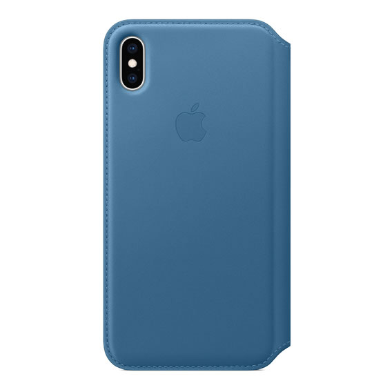Apple Leather Folio iPhone XS Max - Cape Cod Blue