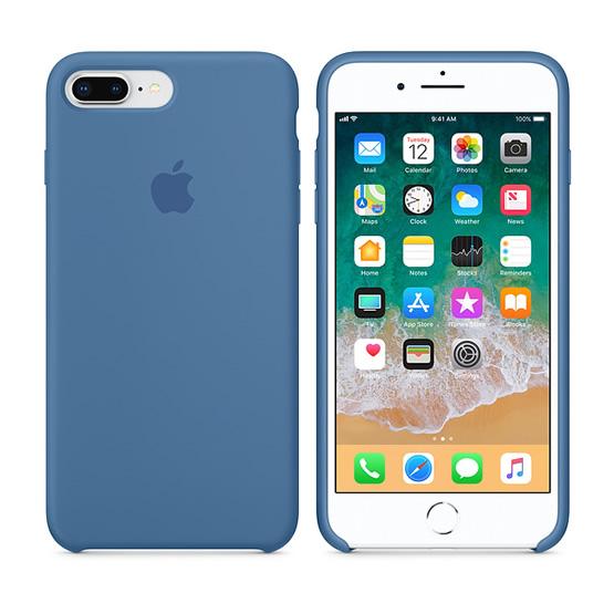 Apple Silicone Case iPhone 8 Plus - Denim Blue