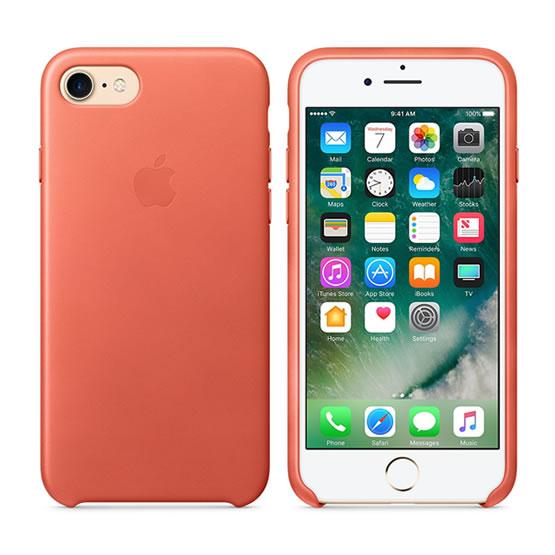 Apple Leather Case iPhone 8/7 - Geranium