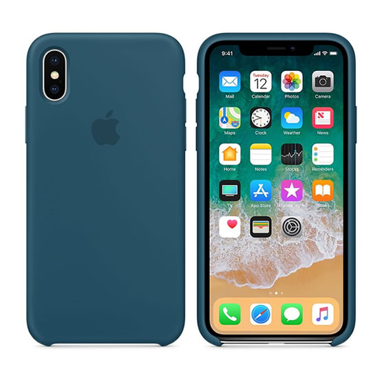 Apple Silicone Case iPhone X - Cosmos Blue