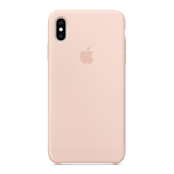Apple Silicone Case iPhone XS Max - Sand Pink