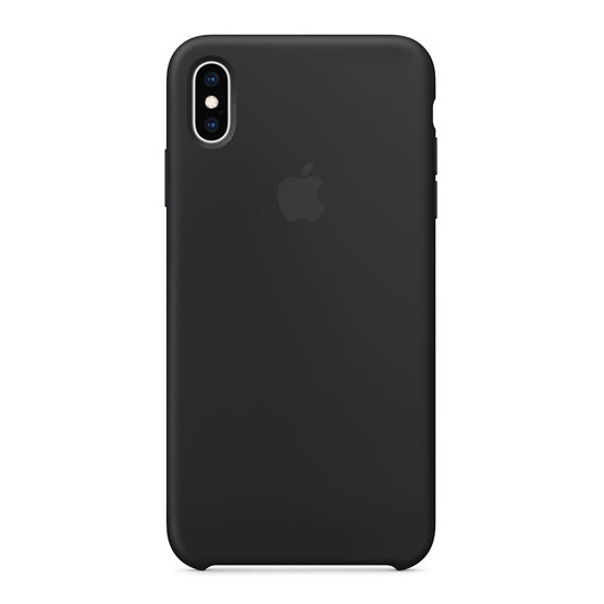 Apple Silicone Case iPhone XS Max - Black
