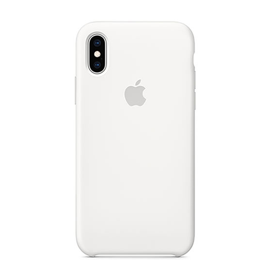 Apple Silicone Case iPhone XS - White