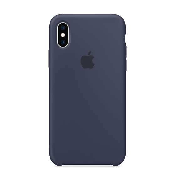 Apple Silicone Case iPhone XS - Midnight Blue