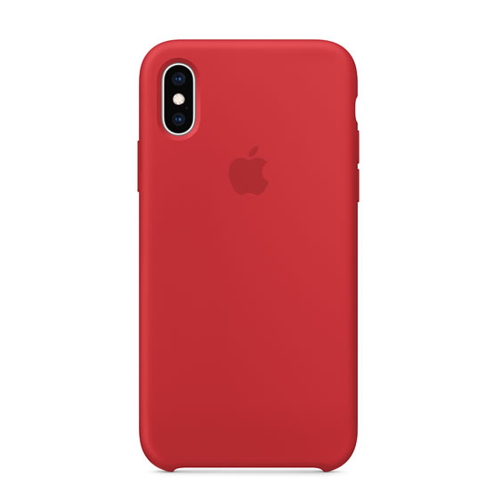 Apple Silicone Case iPhone XS - Red