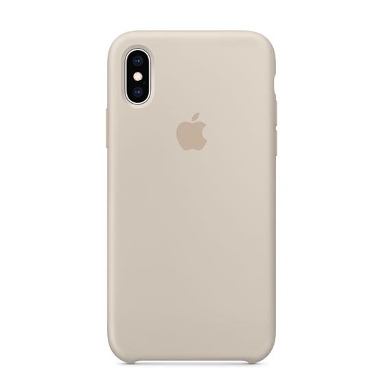 Apple Silicone Case iPhone XS - Stone