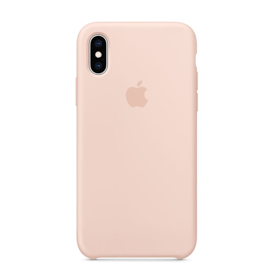Apple Silicone Case iPhone XS - Pink Sand