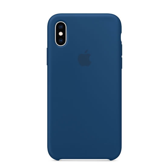 Apple Silicone Case iPhone XS - Blue Horizon