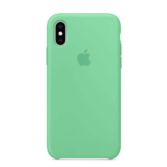 Apple Silicone Case iPhone XS - Spearmint