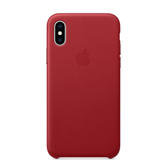 Apple Leather Case iPhone XS - Red