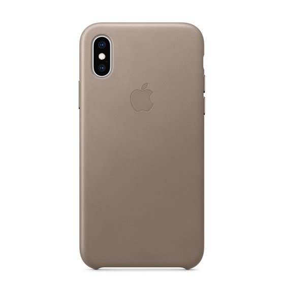 Apple Leather Case iPhone XS - Taupe