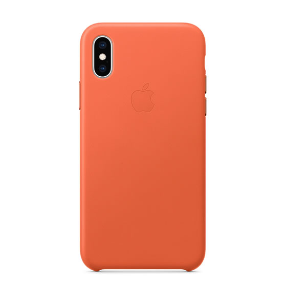 Apple Leather Case iPhone XS - Sunset