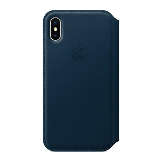 Apple Leather Folio iPhone X - Cosmos Blue
