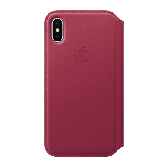 Apple Leather Folio iPhone X - Berry
