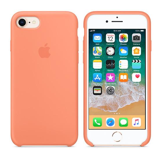 Apple Silicone Case iPhone 8/7 - Peach