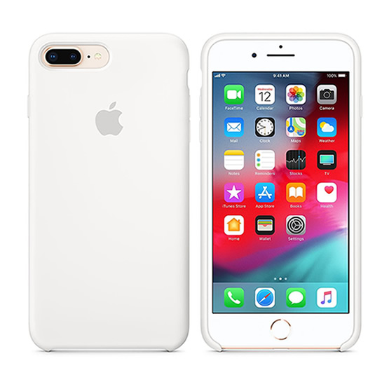 Apple Silicone Case iPhone 8/7 Plus - White