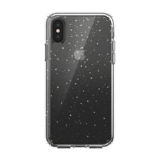 Speck Presidio Clear Glitter iPhone XS - Clear