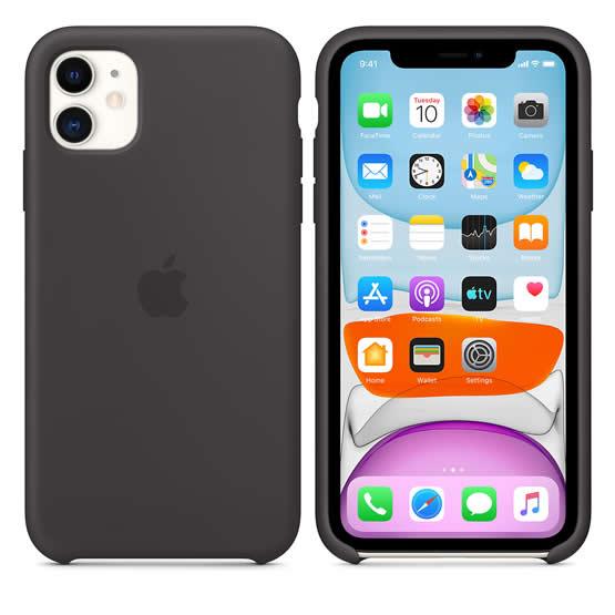 Apple Silicone Case iPhone 11 - Black