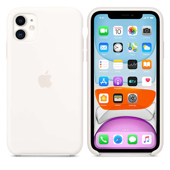 Apple Silicone Case iPhone 11 - White
