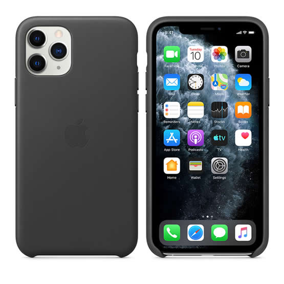 Apple Leather Case iPhone 11 Pro - Black