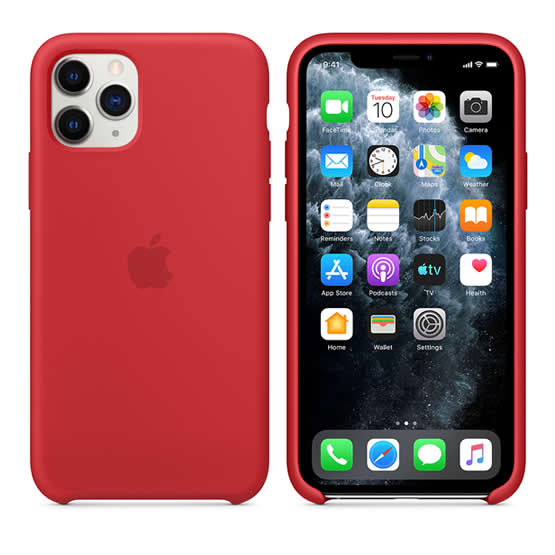 Apple Silicone Case iPhone 11 Pro - Red
