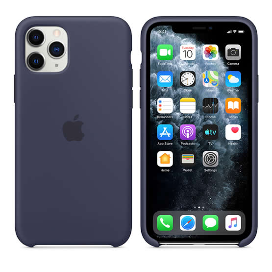 Apple Silicone Case iPhone 11 Pro - Midnight Blue