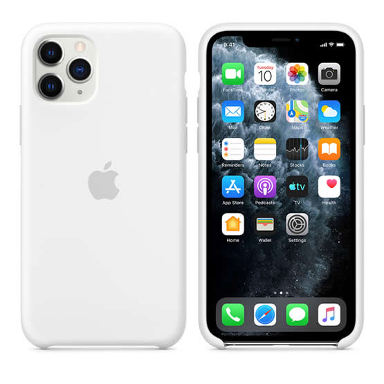 Apple Silicone Case iPhone 11 Pro - White