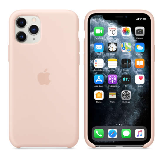 Apple Silicone Case iPhone 11 Pro - Pink Sand
