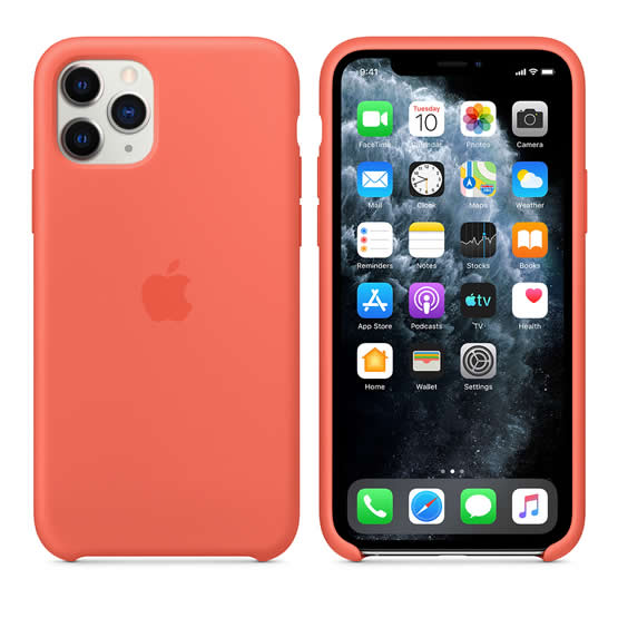 Apple Silicone Case iPhone 11 Pro - Clementine