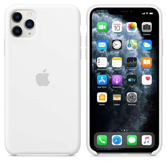 Apple Silicone Case iPhone 11 Pro Max - White