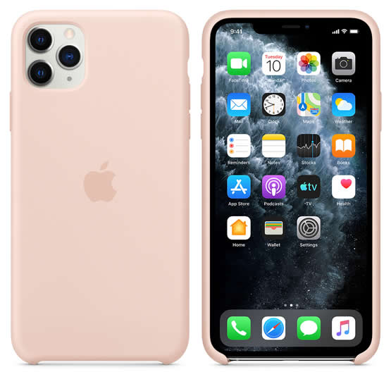 Apple Silicone Case iPhone 11 Pro Max - Pink Sand