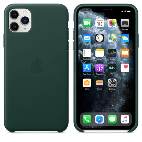 Apple Leather Case iPhone 11 Pro Max - Forest Green